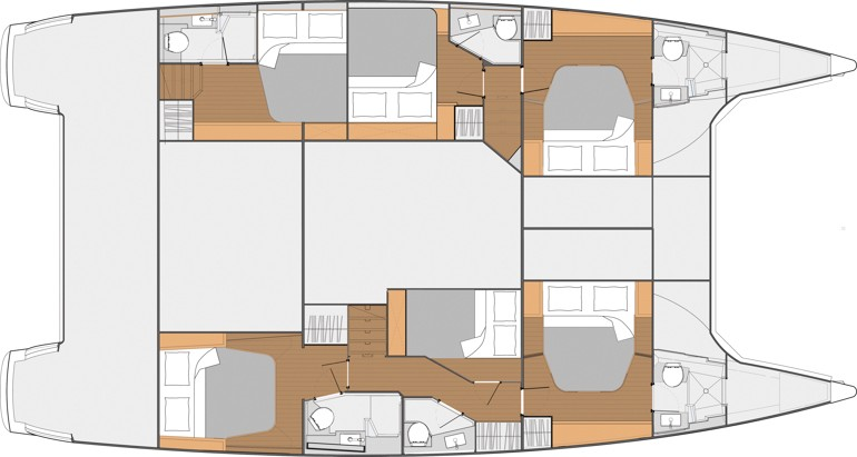 Fountaine Pajot Saba 50 layout