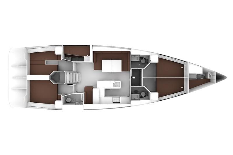 Bavaria 56 cruiser charter Croazia