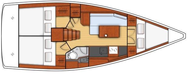 Beneteau oceanis 35 charter Croazia